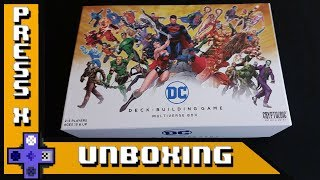 DC Deck-Building Game Multiverse Box UNBOXING + REVIEW