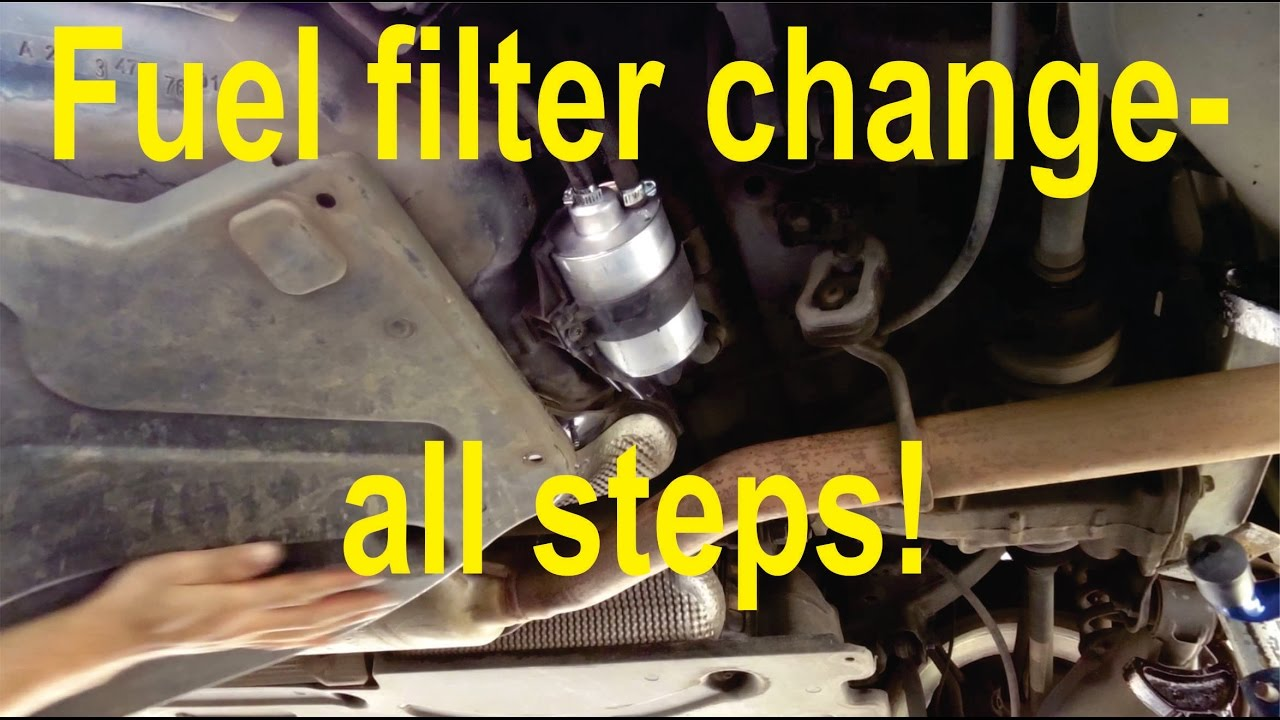 how to change a fuel filter on a mercedes c-class (w203) - all steps -  youtube  youtube