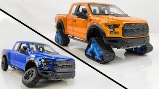 Restoration/Customization Ford F-150 Raptor Into a Tracked Snow Truck - Model Car Customization