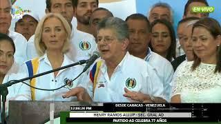 Venezuela - Ramos Allup ofreció emotivo discurso con motivo del 77 aniversario de AD - VPItv