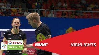 TOTAL BWF SUDIRMAN CUP 2019 | XD | DENMARK VS ENGLAND | BWF 2019