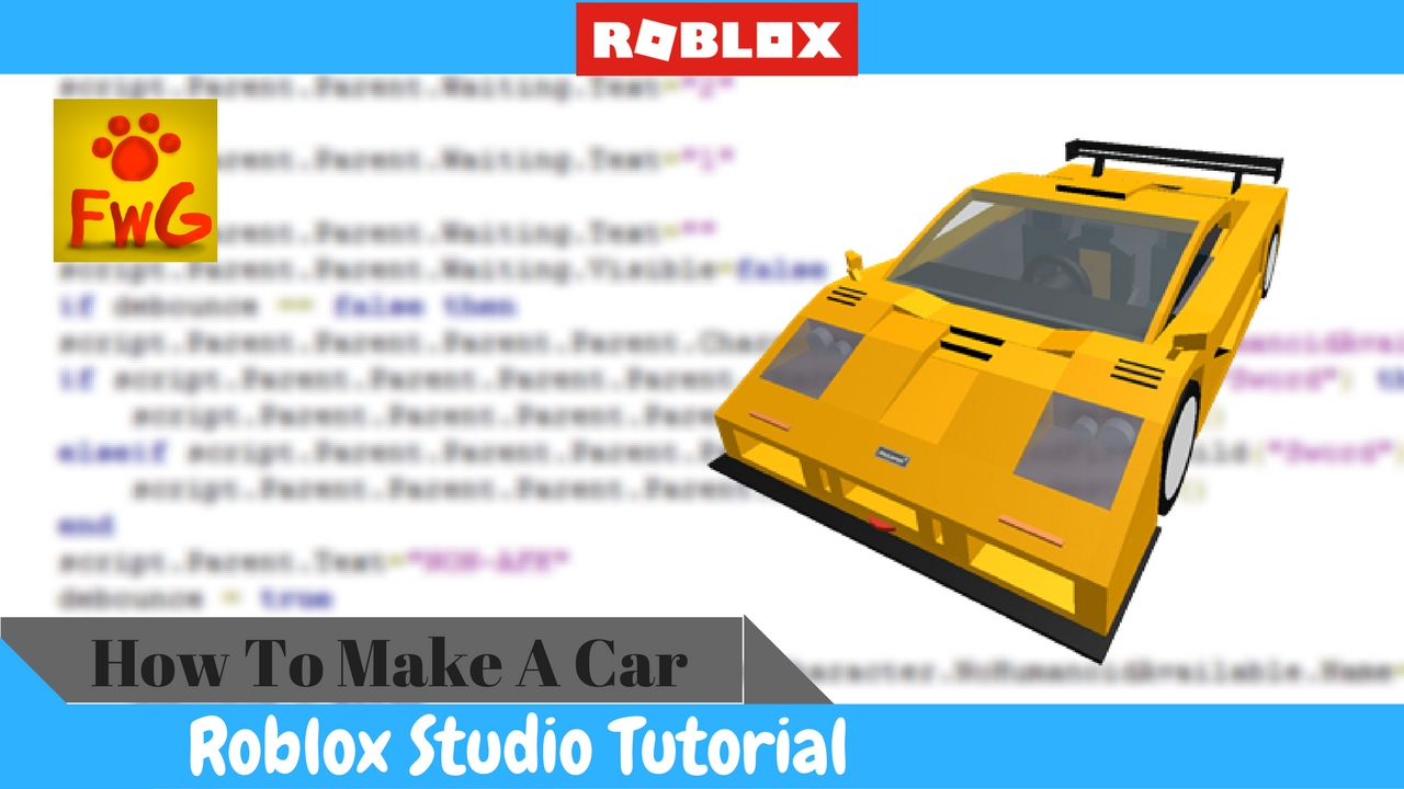 How To Make A Car In Roblox Studio 2017 Youtube