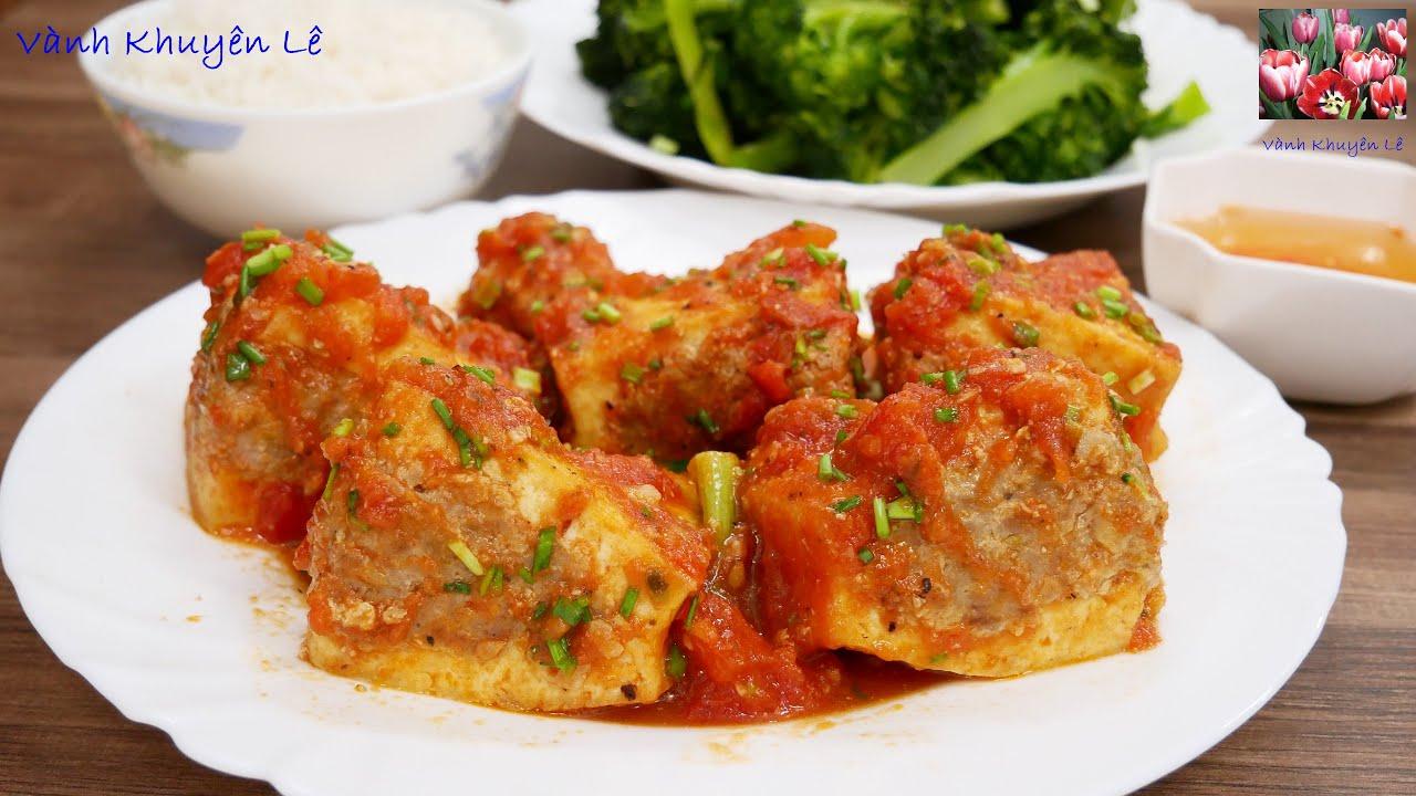 Tiết lộ cách làm đậu hủ nhồi thịt sốt cà chua siêu ngon