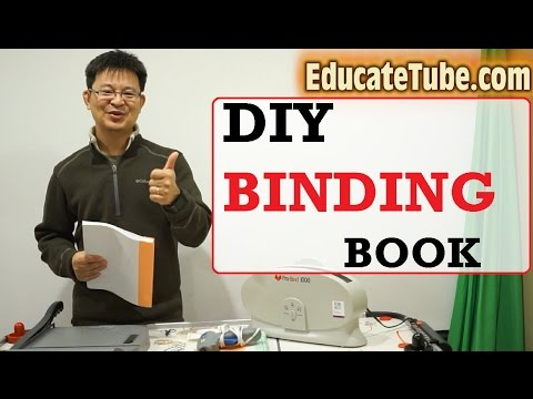 How to make or bind your own book - DIY Binding Book - Self-Publishing Book for free!