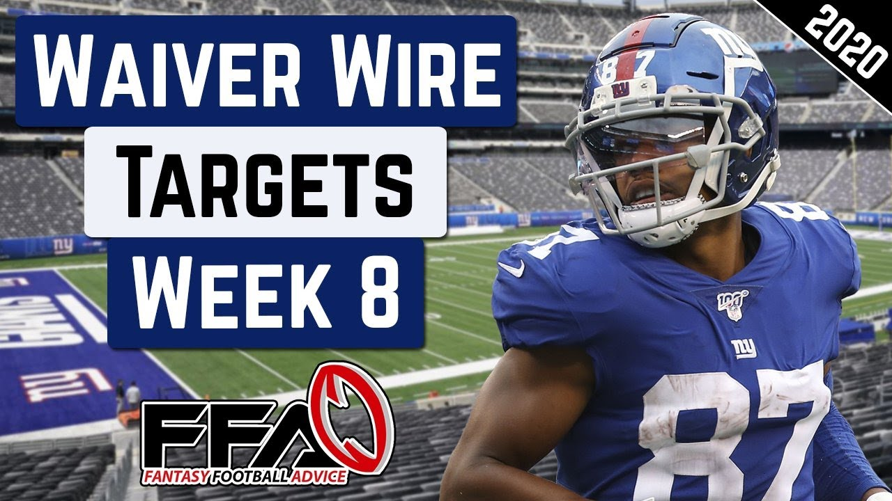 Top Waiver Wire Targets - Week 8 - 2020 Fantasy Football Advice