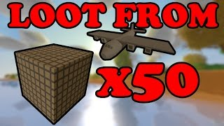 Unturned - Loot from 50 Air Drops!