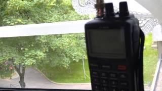 Short-wave broadcasting test on 25 m band