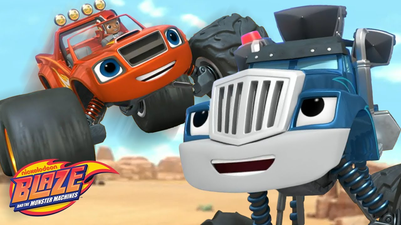 Race Car Blaze Jumps Over Crusher! | Blaze and the Monster Machines