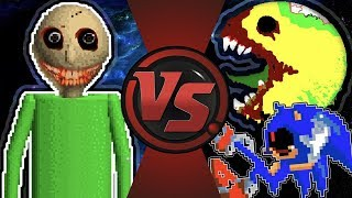 BALDI.EXE vs PAC-MAN.EXE vs SONIC.EXE (Sonic vs Pac-Man vs Baldi Animation Meme) Cartoon Animation