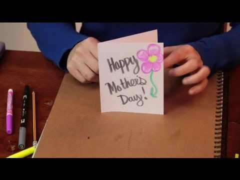 How To Decorate Your Own Mothers Day Card Various Crafts Youtube