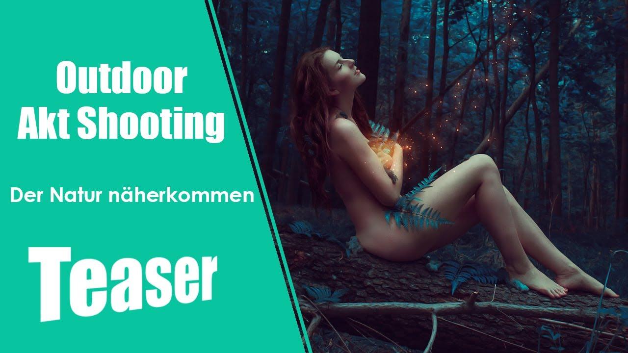 """Traumhaftes Outdoor Akt Fotoshooting // """" Der Natur näherkommen """" im Wald"""