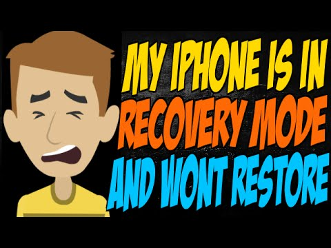 iphone wont restore my iphone is in recovery mode and wont restore 12500