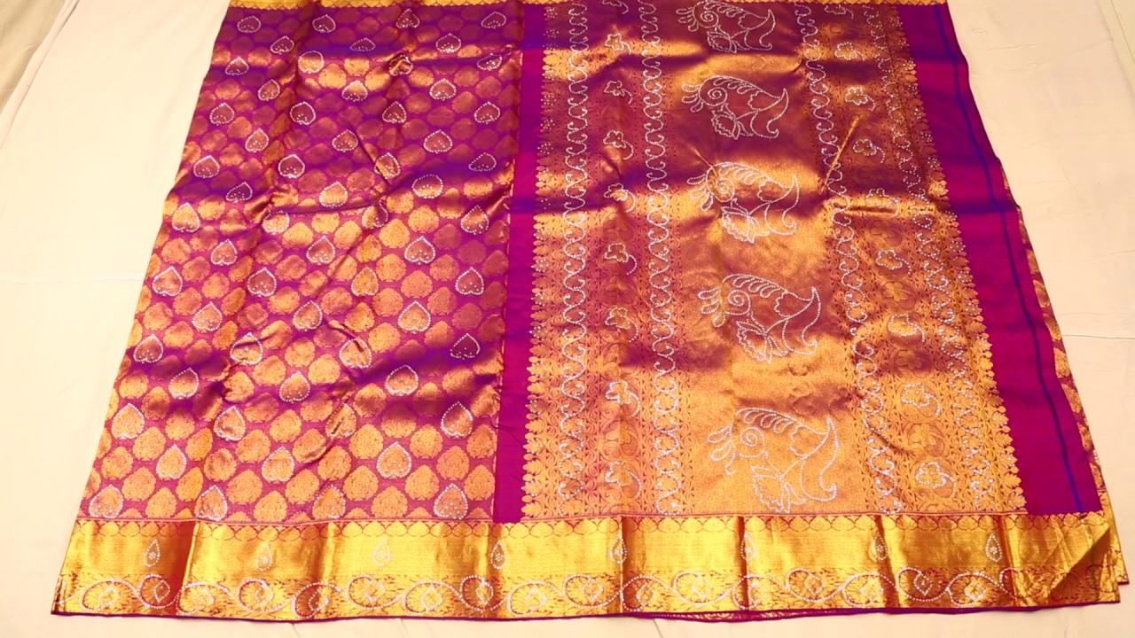 8552ec817b Stone Work Blouse Designs For Silk Sarees   Toffee Art