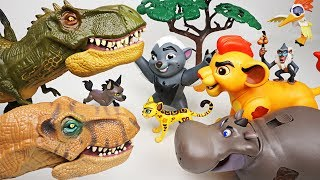 Hyena brought huge dinosaurs! Don't worry! Super Lion Guard transform! - DuDuPopTOY thumbnail