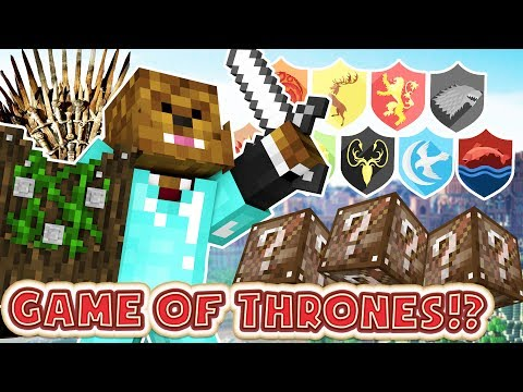 NEW Minecraft Game of Thrones Lucky Block Mod - GOT Kings Landing Minigame