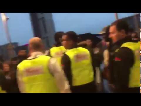 Westfield security get booed by ghana Boyz fans