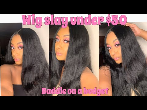 Baddie On A Budget Wig Slay Under 50 Ft Freetress Freedom Part Lace Front