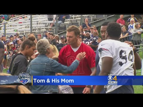Tom Brady Gets A Hug From His Mom At Patriots Practice