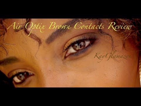 💋Air Optix Color Contact Lenses Review | Color Brown!!! ♡