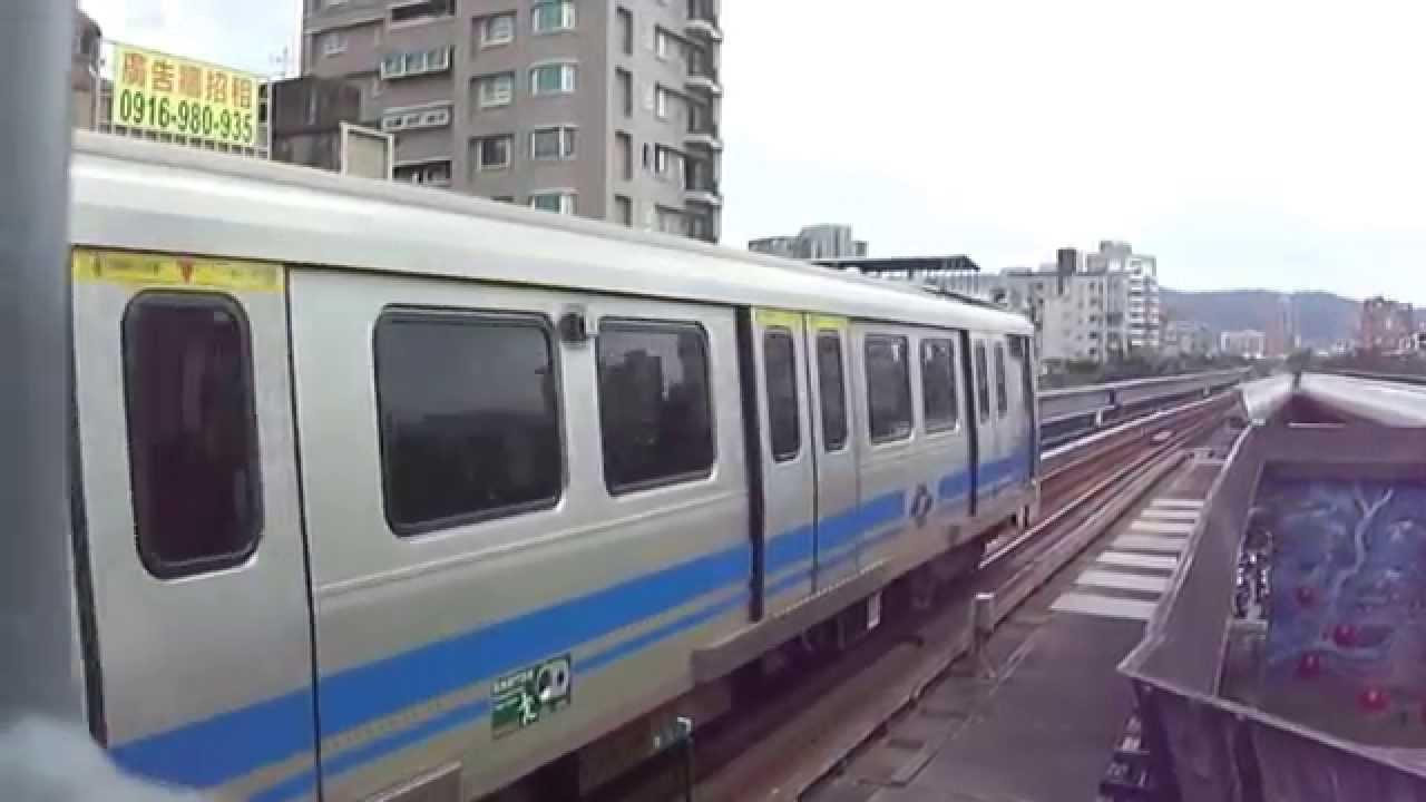 臺北捷運381型列車往北投進入明德站 - YouTube