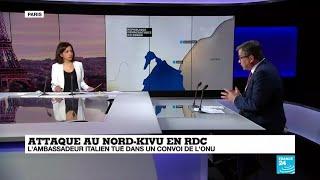 Attaque au Nord-Kivu en RDC : l'ambassadeur italien tué dans un convoi de l'ONU