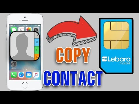 How to see sim contacts in iphone