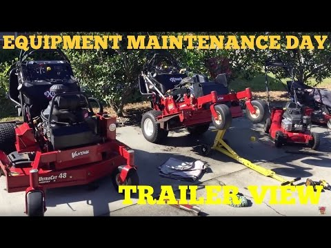 Lawn Care Equipment Setup 2016 , Enclosed Trailer, Blades Of Grass Lawn Care