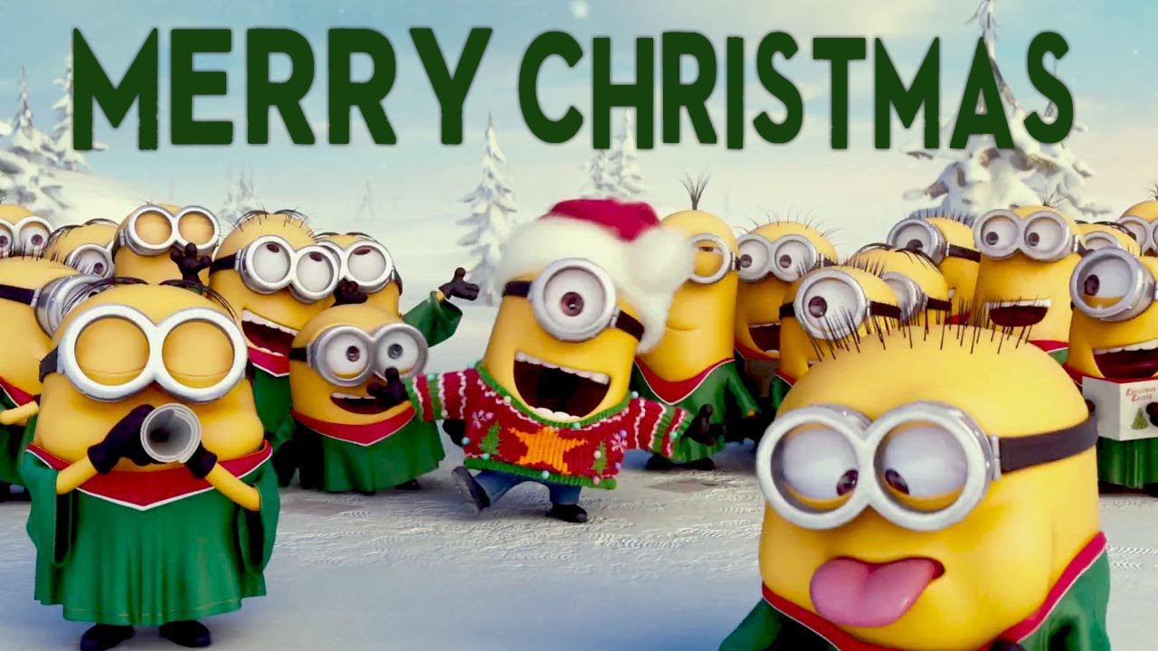 Cute Minions Wallpaper Quotes Crazy Funny Minions Merry Christmas Music Video Feliz