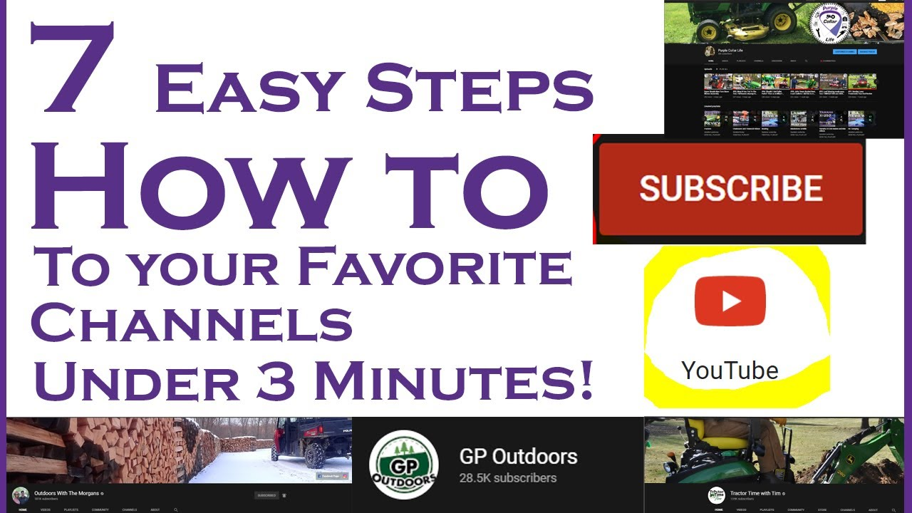 7 Steps To Subscribe To Your Favorite Channels How To Make A Gmail Account And Subscribe On Youtube Youtube