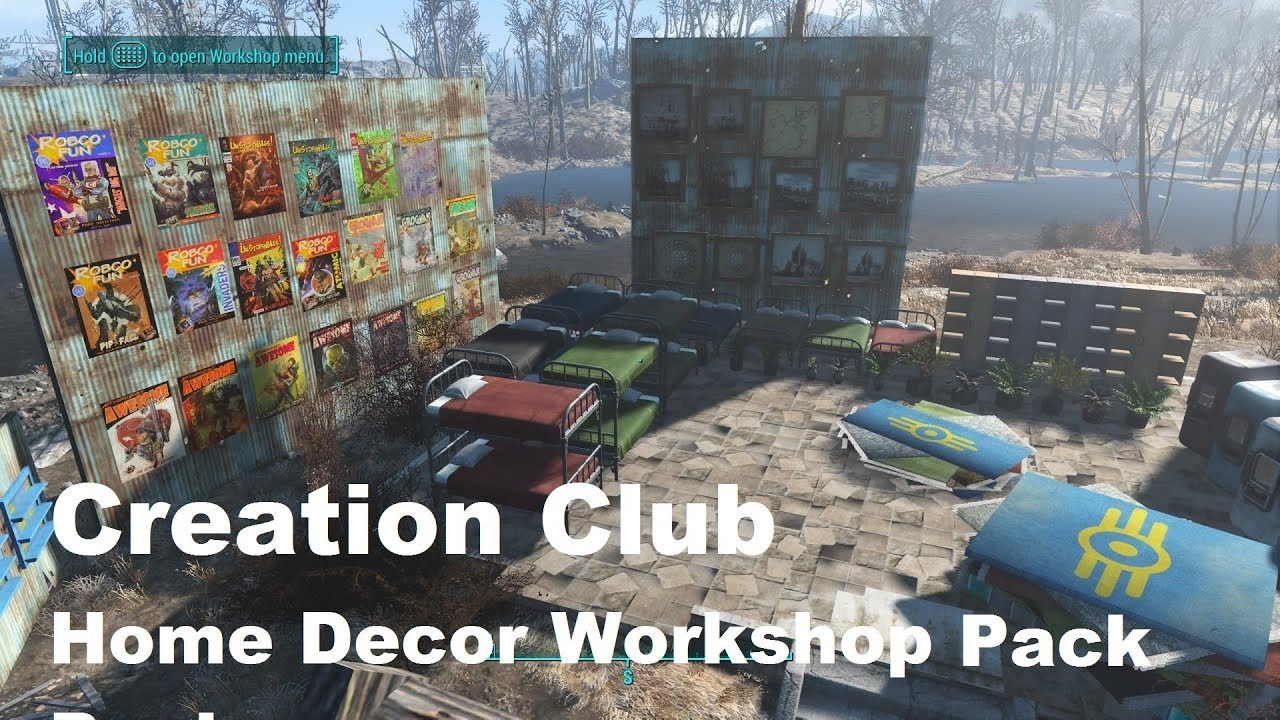Fallout 4 creation club home decor workshop pack ps4 85 decorations