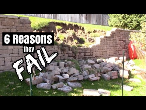 How To Build Retaining Wall And Reasons They Fail