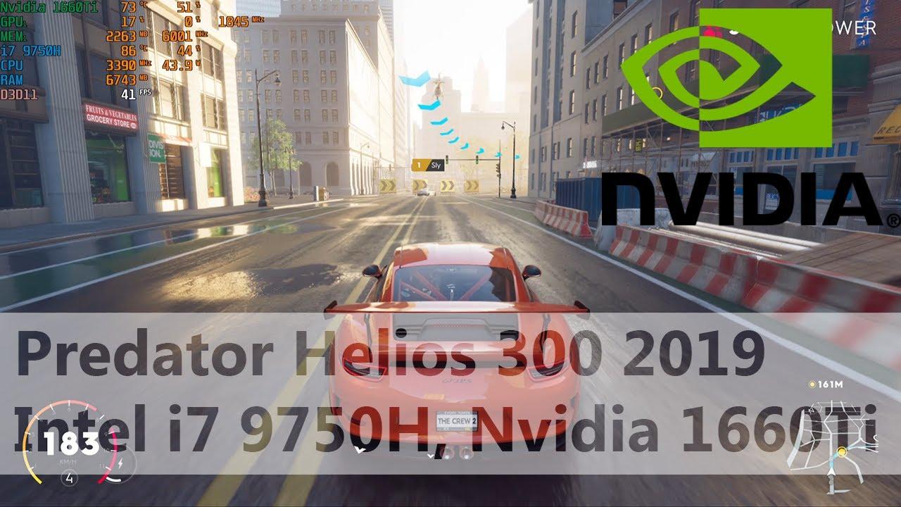 The Crew 2 Benchmark Acer Predator Helios 300 2019 I7 9750h Nvidia 1660 Ti