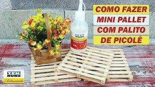 DIY – Mini Pallet – Como fazer – Passo a Passo