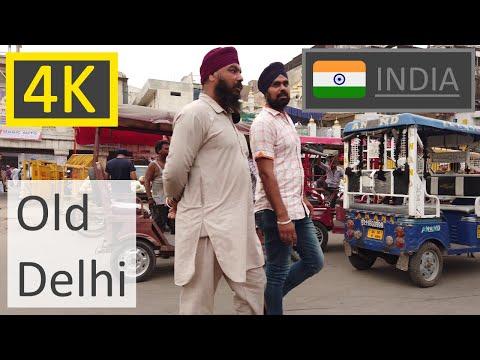[4K] Walking DELHI - Through Old Delhi - India Walk Tour