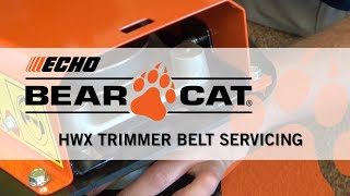 ECHO Bear Cat High Wheeled Trimmer Belt Servicing
