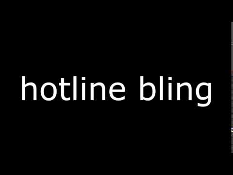Drake - Hotline Bling Ringtone | free download ringtone
