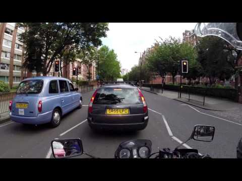 Ace Cafe To Southbank (London) On A Honda CBF500 UNCUT