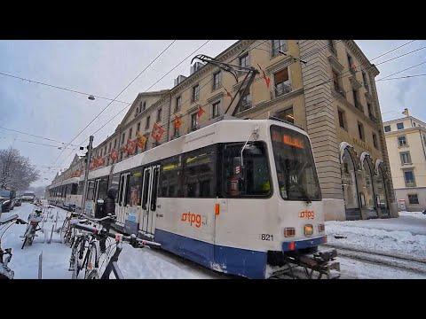Genève-Suisse sous la neige (Mars 2018)