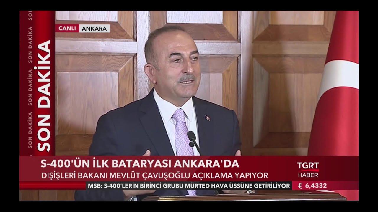 Bakan Çavuşoğlu'ndan İlk S-400 Açıklaması