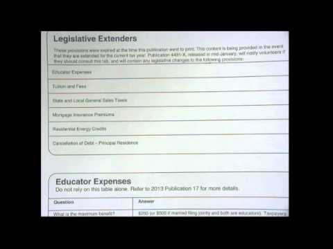 8 Tax Law and Use of Pub 4012