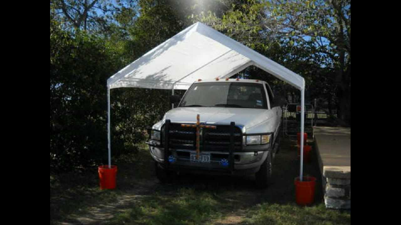 & Caravan Canopy 10 by 20 Domain Carport - YouTube