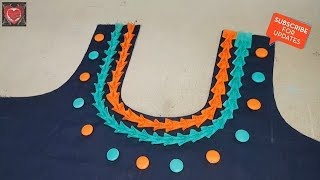 Awesome Front Neck Designs Cutting and Stitching