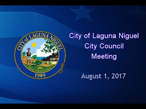 City Council Meeting: August 1, 2017