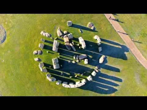The beautiful and prehistoric Stonehenge monument. Filmed in