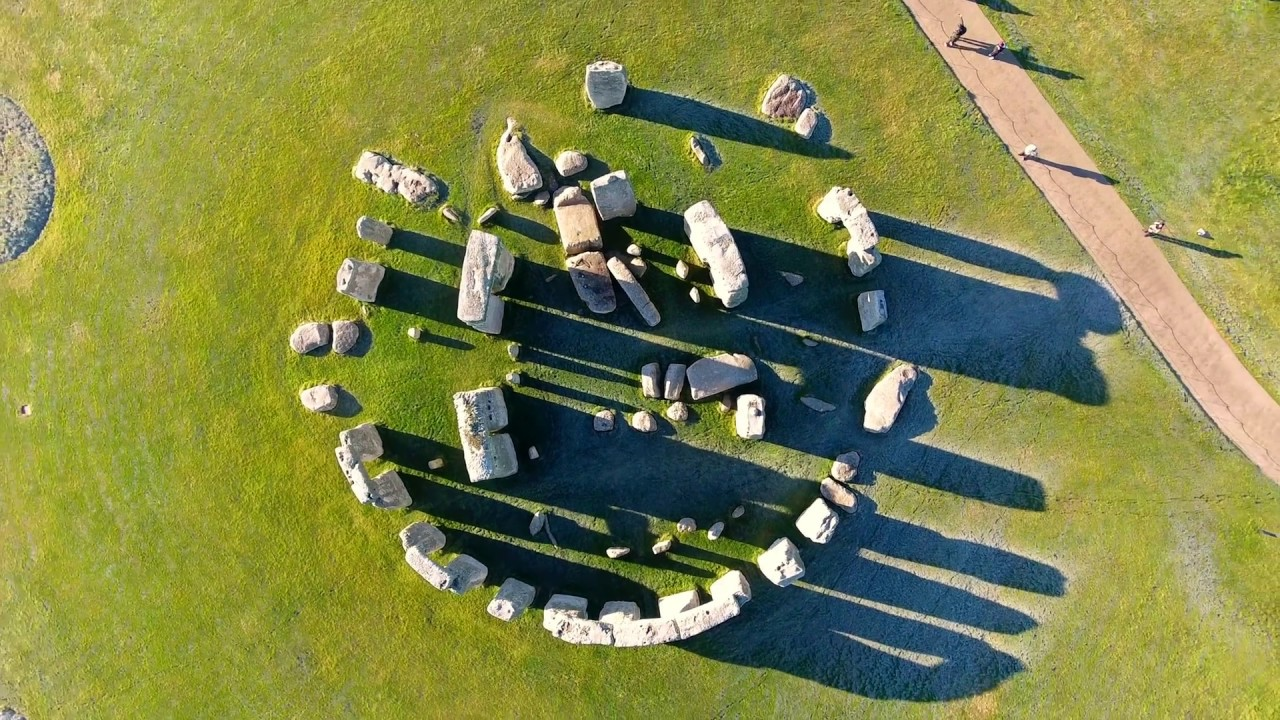 Stonehenge aerial photo | aerial photographs of Great ... |Stonehenge Aerial View Complete