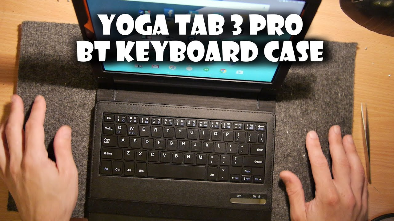 123de1c3c86 Lenovo Yoga Tab 3 PRO Bluetooth Keyboard Case Review - YouTube