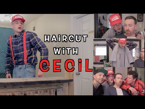 Cecil At The Barber Shop