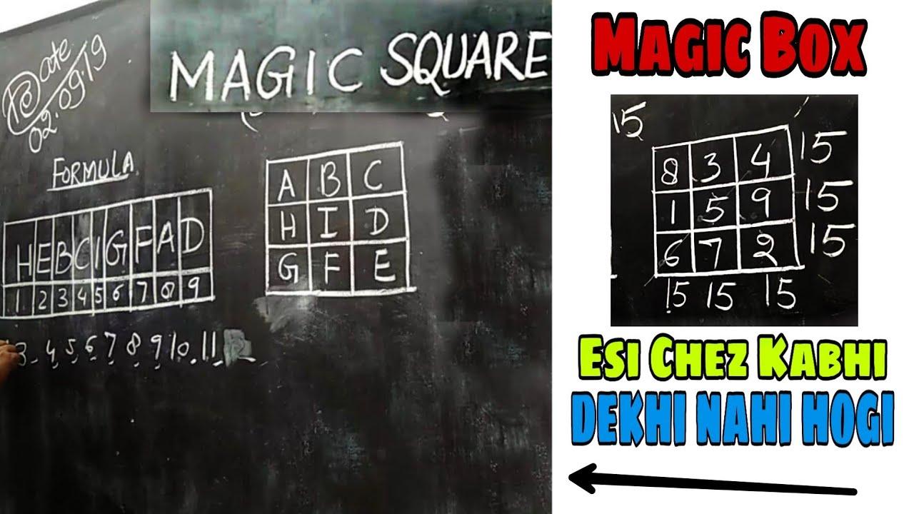 3×3 Magic Square Tutorial