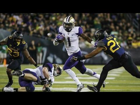 John Ross III (Washington - WR) vs Oregon (2016) | 2016-17 NCAA ...
