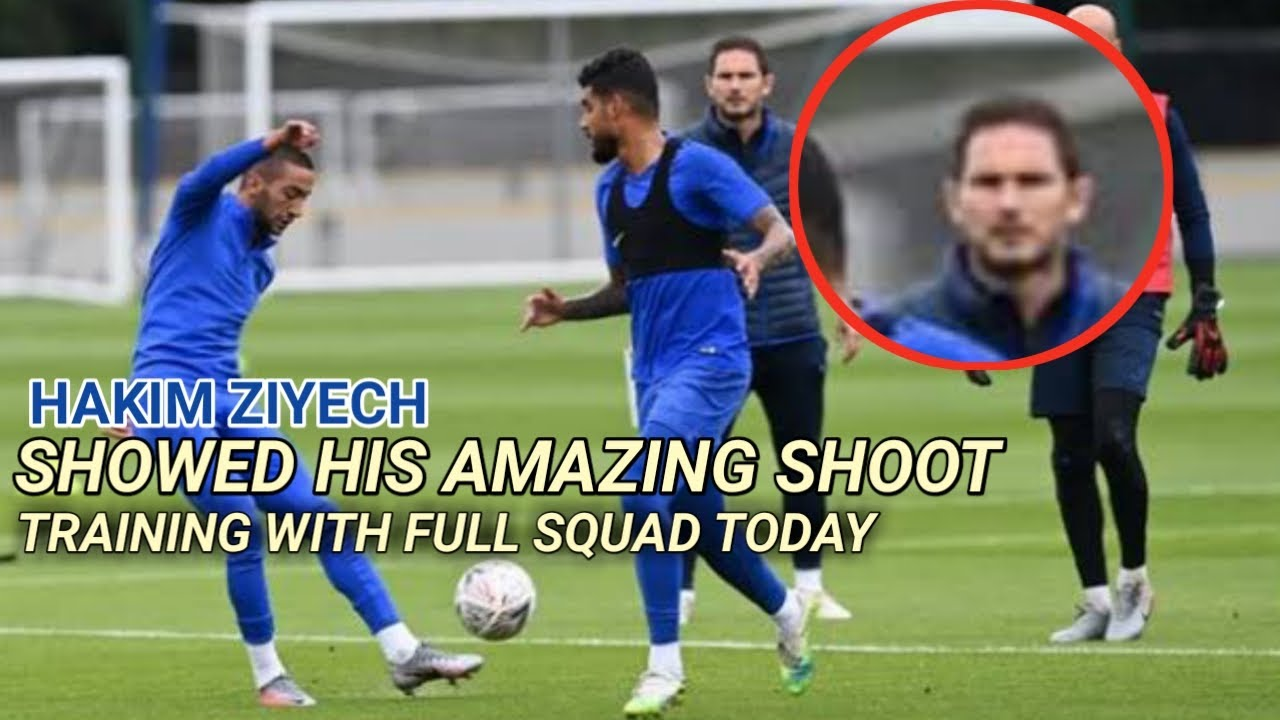 Hakim Ziyech Showed His Amazing Skills to Frank Lampard • First Training Session